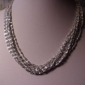 Vintage Sarah Coventry Silvery Cascade Necklace